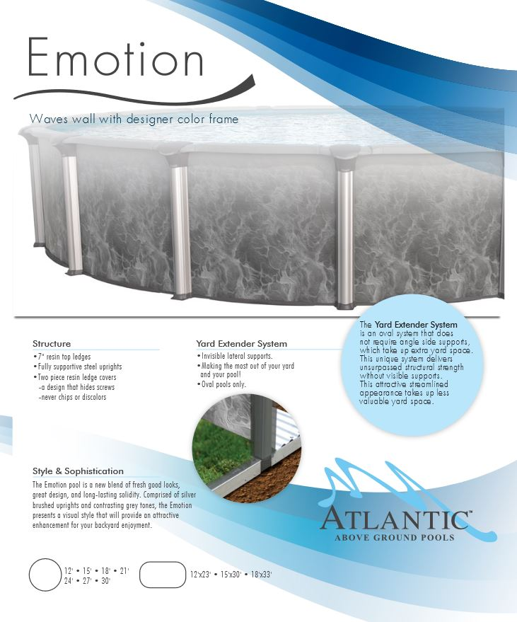 Emotion Above Ground Pools Maryland