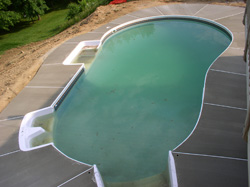 Inground Vinyl Liner Swimming Pool Construction Carroll County Maryland In Ground Above
