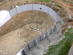 Inground Vinyl Liner Swimming Pool Construction Carroll